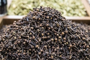 Clove essential oil is used as a natural ingredient for homemade mosquito repellent.