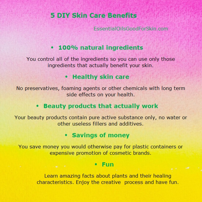 DiY Skin Care Benefits